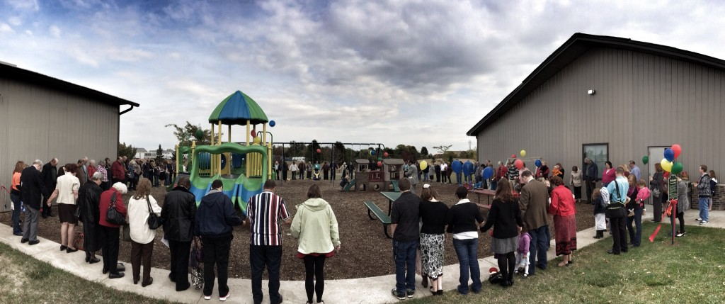 New Life Baptist Church in Davenport Playground Dedication