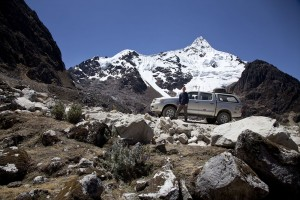 John Grady, an IMB missionary, takes in the view just below the Punta Olympica, a 16,000-foot pass. Although the main mountain roads have been improved significantly in recent years, many ministry locations still remain accessible only with specially outfitted vehicles designed to function at the reduced oxygen levels of the Andes.  IMB photo.