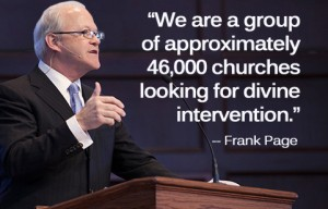 """""""We are a group of approximately 46,000 churches looking for divine intervention,"""" SBC Executive Committee president Frank Page told an audience at Midwestern Baptist Theological Seminary, in answer to his own question, """"Who are Southern Baptists?"""""""