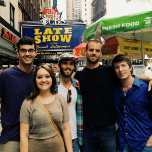 Austin Coleman (center, with hat) takes in some New York City sites with fellow student missionaries he served with during Summer 2013. The North American Mission Board student missionary initiative has seen explosive growth since NAMB gave it a top-to-bottom redesign in 2012. Photo provided by Austin Coleman. Used with permission.