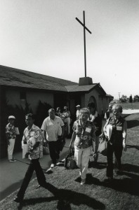 Volunteers participate in the first Crossover event which preceded the 1989 SBC annual meeting in Las Vegas.  Photo courtesy of the Southern Baptist Historical Library and Archives.