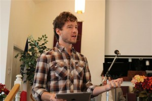 "Matt O'Mealey, a new planter in the Des Moines area, shared he and his wife Keeva's strategy for reaching ""millenials"" in the Drake/Sherman Hills area during the 2014 Metro Baptist Association Annual Meeting."