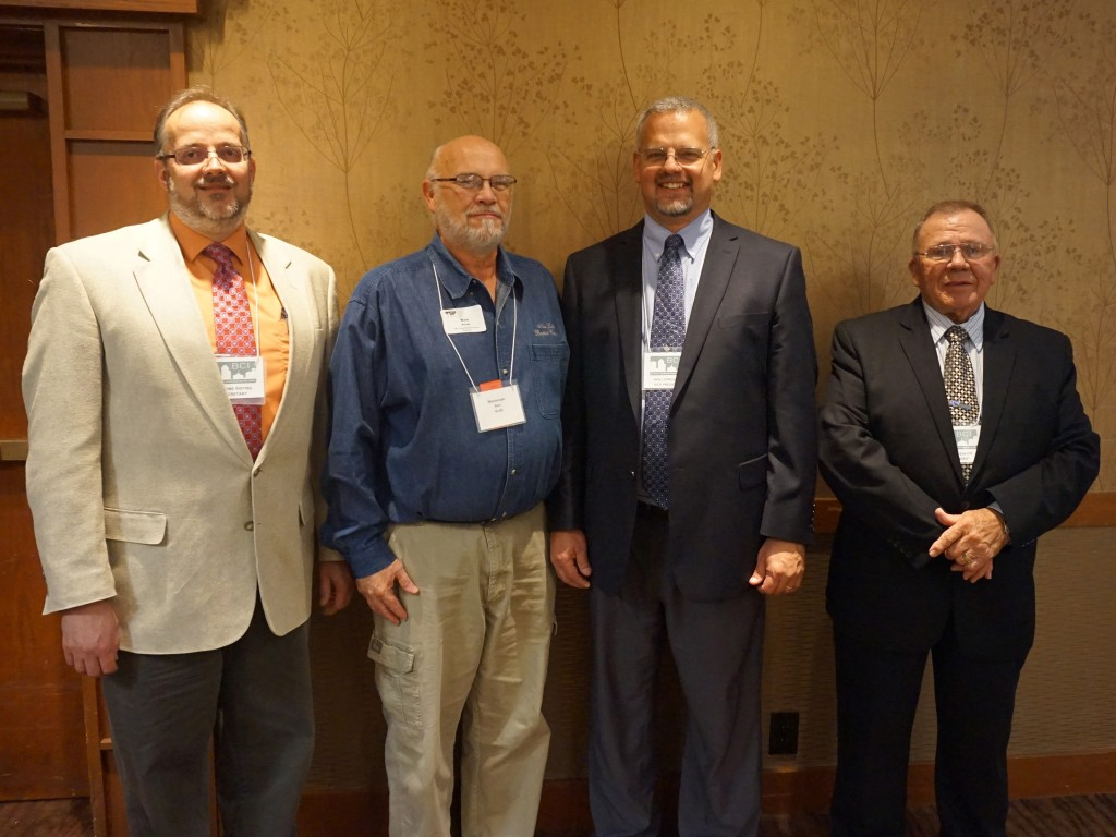 2015 BCI Officers (left to right) Secretary Jerome Risting, Second Vice President Ken Kraft, First Vice President Ken Livingston and President Lloyd Eaken