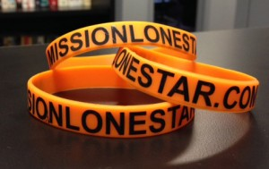 Mission Lone Star volunteers will receive a bracelet to wear during and after Lone Star Rally.