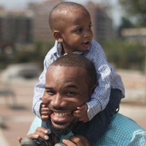 Muche Ukegbu, shown here with his youngest son Noah, is a church planter set to launch The Brook church in the North Miami area on Easter. Ukegbu is a product of the North American Mission Board's church planting Farm System, having served as a GenSend student missionary and as an apprentice with a church planter in Atlanta, Dhati Lewis. Photo courtesy Muche Ukegbu