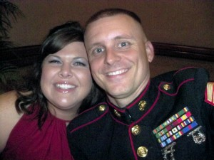 Gunnery Sergeant Leland Stephens and his wife Jenniffer, attending their last Marine Corps ball before his retirement. Photo courtesy Leland Stephens
