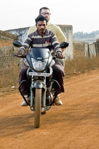 Riding on the back of a motorcycle is one of Owen Shephard's* favorite moments during the Missouri church's trip to South Asia. His new friend wanted to show his start-up business to the pastor. IMB Photo