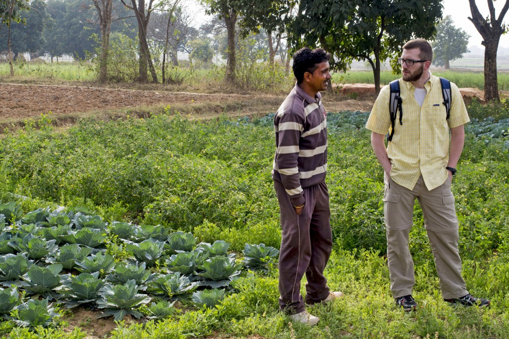A South Asian man shows Owen Shephard* his field of mustard. The Missouri pastor and his new friend spent a few hours getting to know each other and sharing stories. This was the first time the man had ever heard of Jesus. IMB Photo