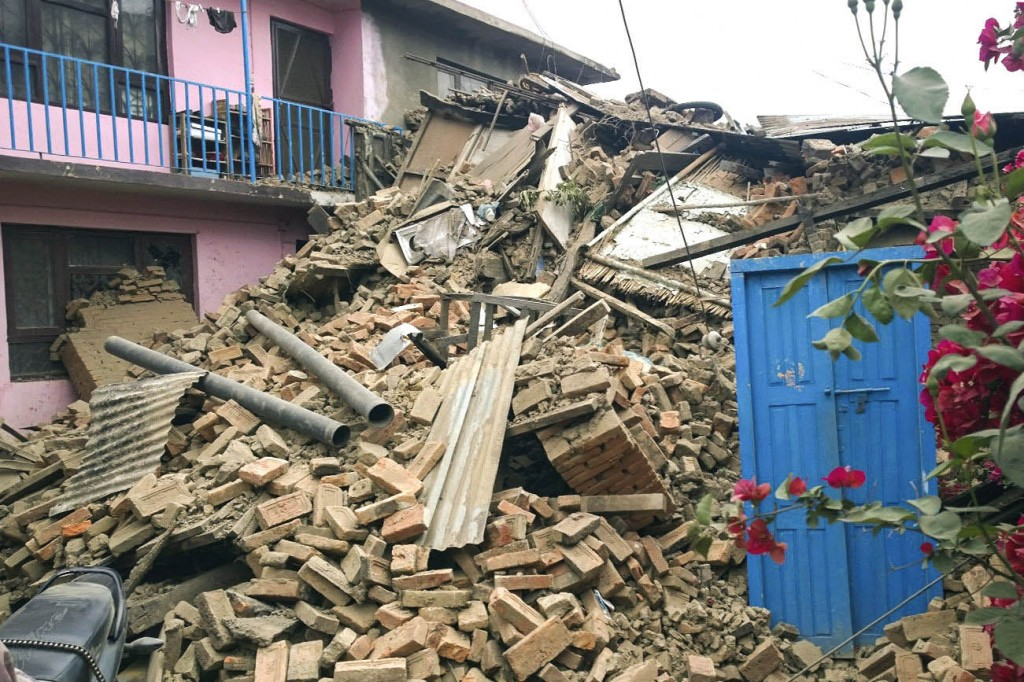 Many buildings around Kathmandu are reduced to rubble in the aftermath of the 7.8-magnitude earthquake April 25. Photo used with permission