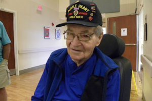 Jimmy Connelly, after returning from World War II, became a leading churchman in St. George, S.C. He died March 26 of this year at the Veterans' Victory House in nearby Walterboro. Photo by J. Gerald Harris