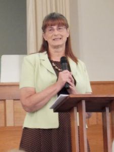 Guest speaker, Judy Bower of Laredo, Missouri