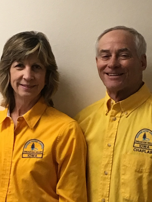 Mike and Sheri Carlson, Disaster Relief Co-Directors for Iowa